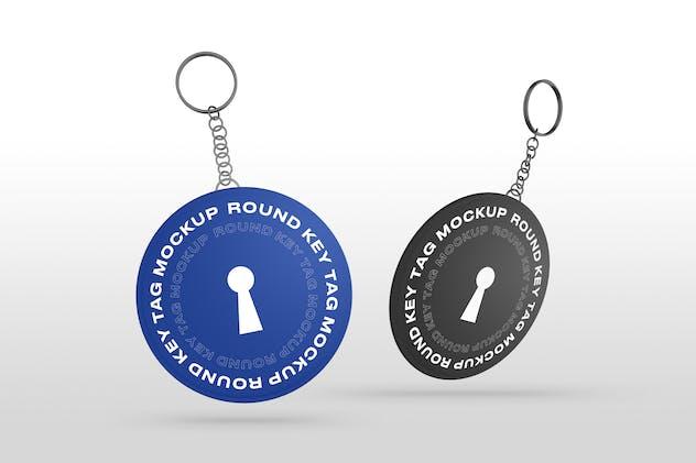 Round Key Tags Mockups