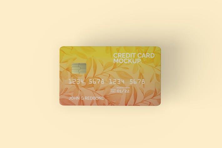 Thumbnail for Top View Kreditkarten-Mockup