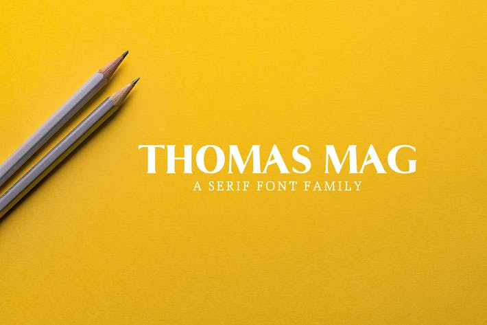 Thumbnail for Thomas Mag Serif Font Family Pack