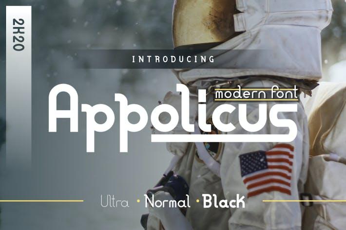Thumbnail for Appolicus - Negrita, Regular, Ultra - Fuente moderna