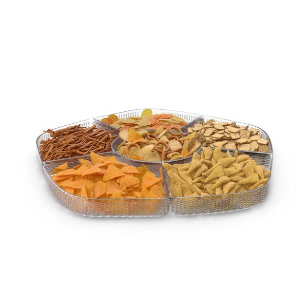 Compartment Bowl with Mixed Salty Snacks