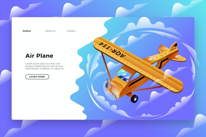 Thumbnail for Air plane - Banner & Landing Page