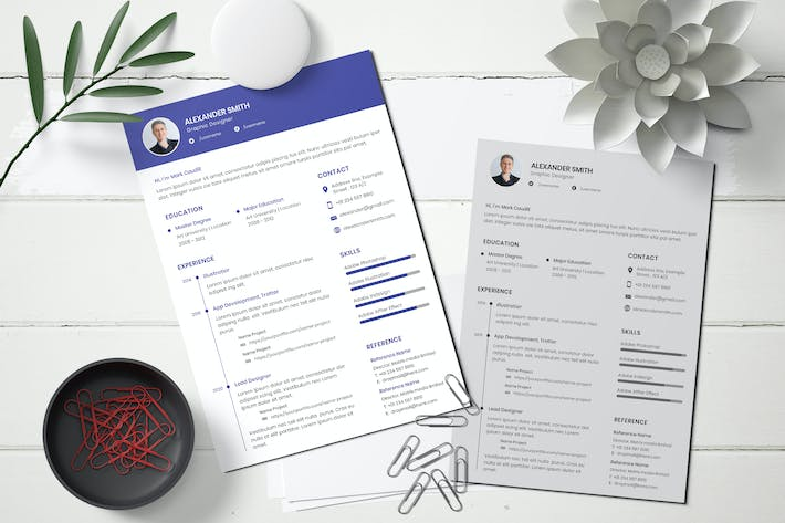 Thumbnail for Resume CV Template For Business