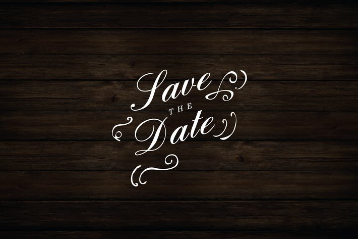 Floral Save The Date Logo