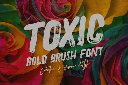 Tóxico - Fuente de brocha y grunge