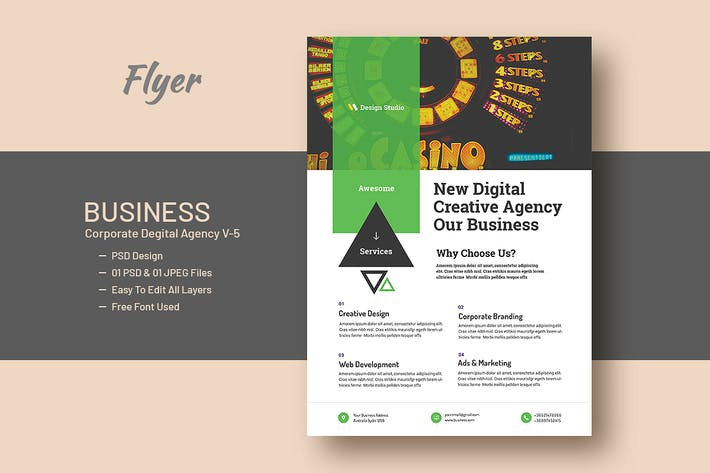 Thumbnail for Business And Corporate Digital Agency Flyer V-5