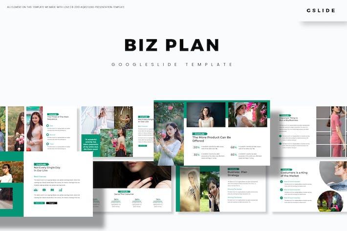 Thumbnail for Biz Plan - Google Slides Template