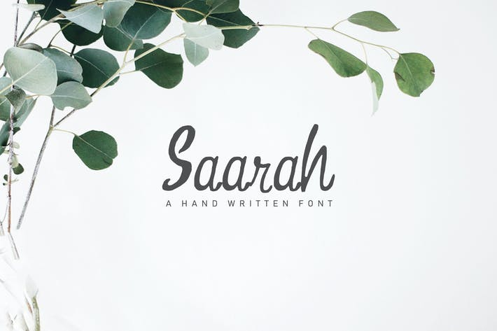Thumbnail for Saarah Fresh Handmade Font
