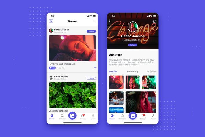 Thumbnail for Concept d'interface utilisateur de l'Appli mobile sociale