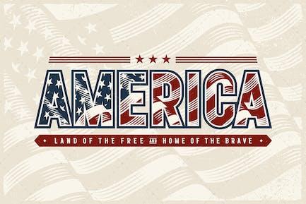 Vintage America Typografie Logo