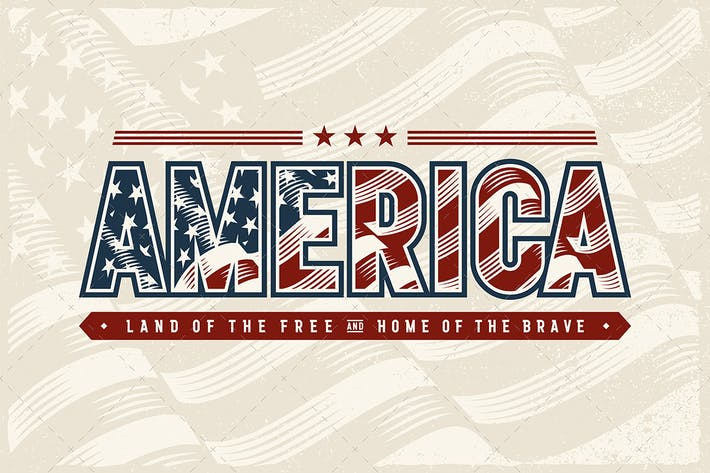 Thumbnail for Vintage America Typography Logo