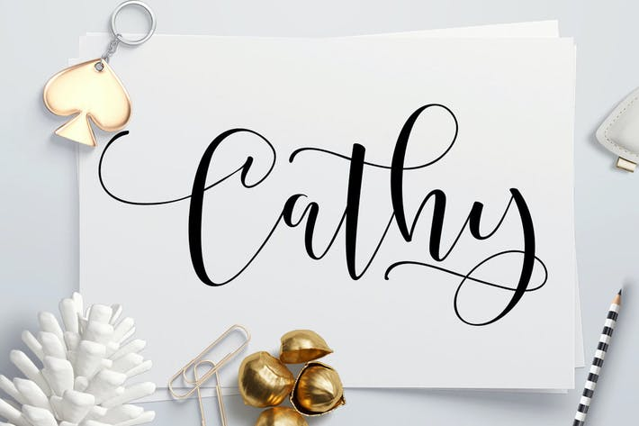 Thumbnail for Cathy Font Script