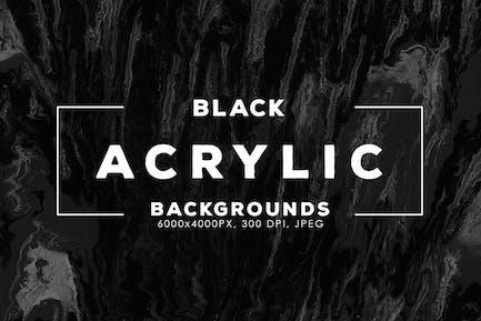 Schwarze Acryl-Hintergründe