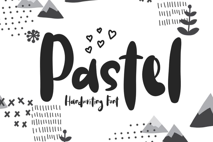 Thumbnail for Pastel | Handwriting Font