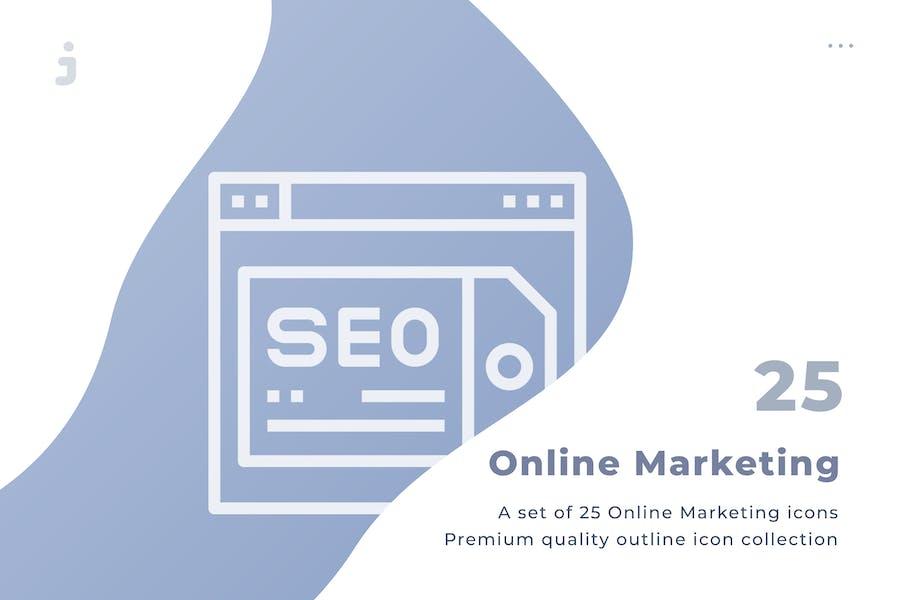 25 Kit de iconos de Marketing Online