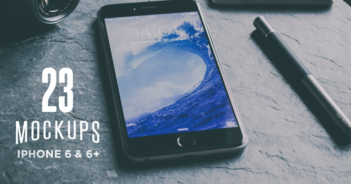 Download 23 Cool iPhone 6 & 6+ mockups by Madebyvadim