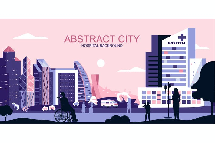 Thumbnail for Medical City Vector Illustration Header Website