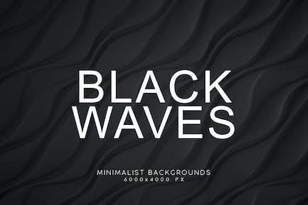 Black Minimalist Wave Backgrounds 3