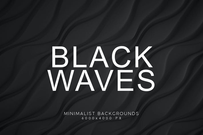 Thumbnail for Black Minimalist Wave Backgrounds 3