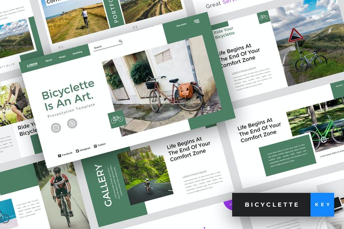 Thumbnail for Bicyclette - Bicycle Keynote Template