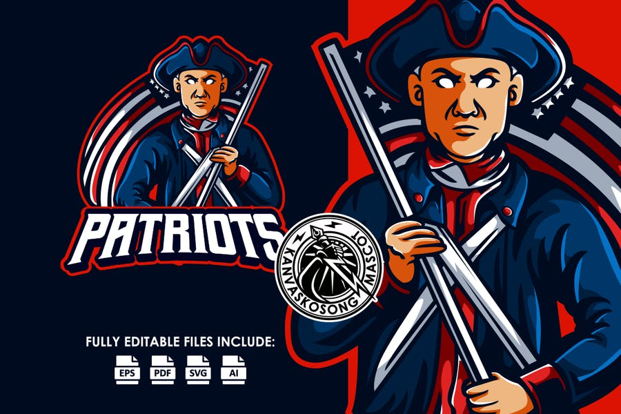 Patriot Veteran Logo Template