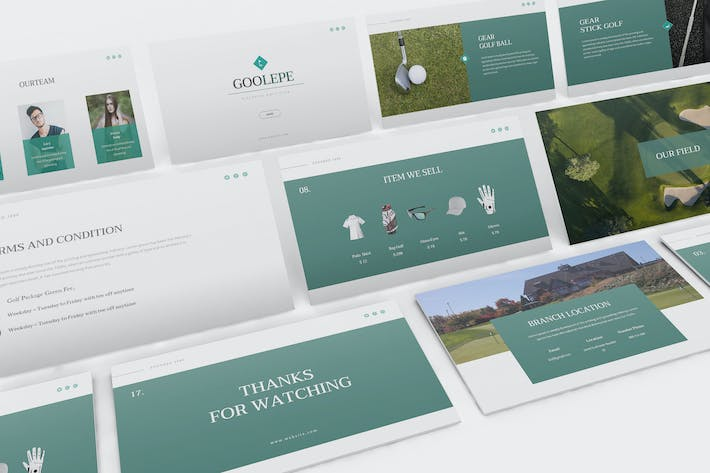 Thumbnail for Golf Keynote Presentation Template