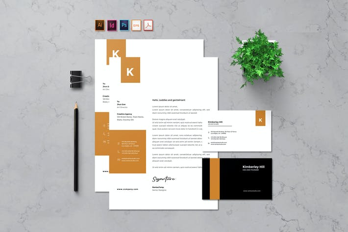 Thumbnail for Rantautemp - Creative Letterhead & Card
