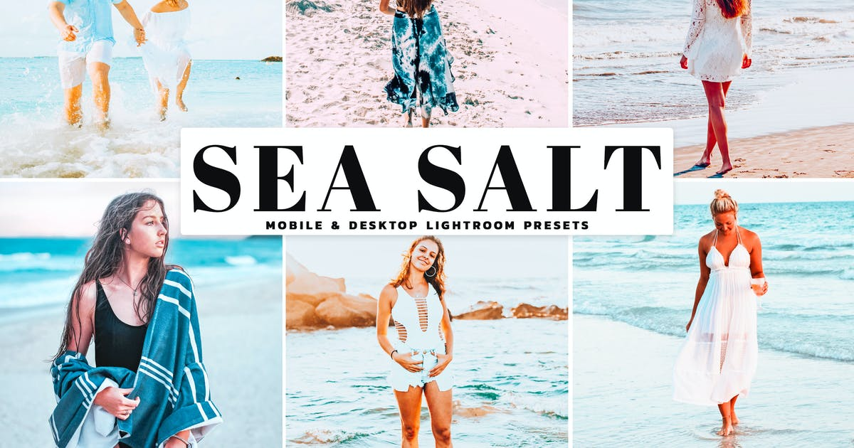 Download Sea Salt Mobile & Desktop Lightroom Presets by creativetacos