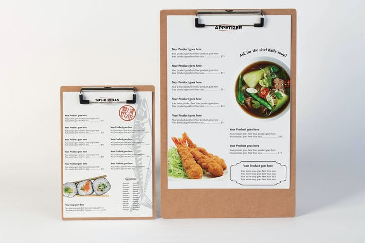 Thumbnail for Restaurant Menu Mock Up