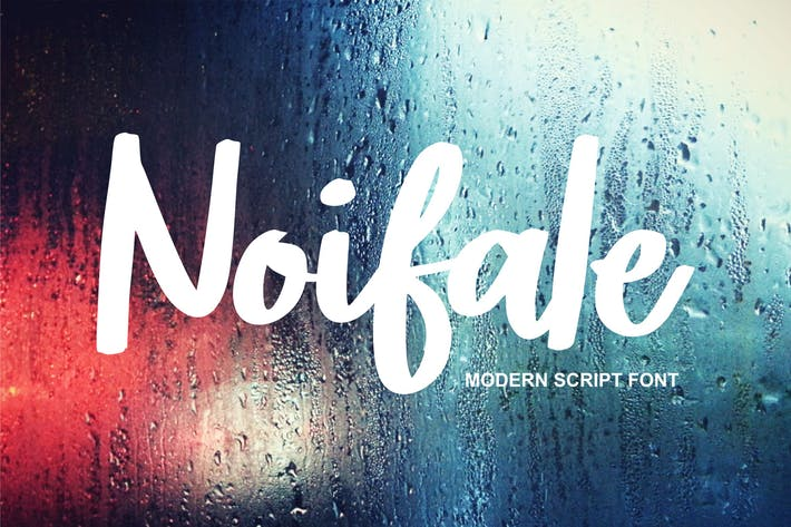 Thumbnail for Noifale | Modern Script Font