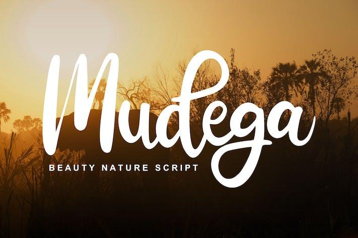 Mudega | Beauty Nature Script Font