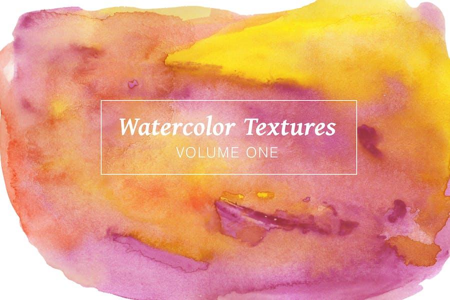 Mehrfarbige Aquarellpackung