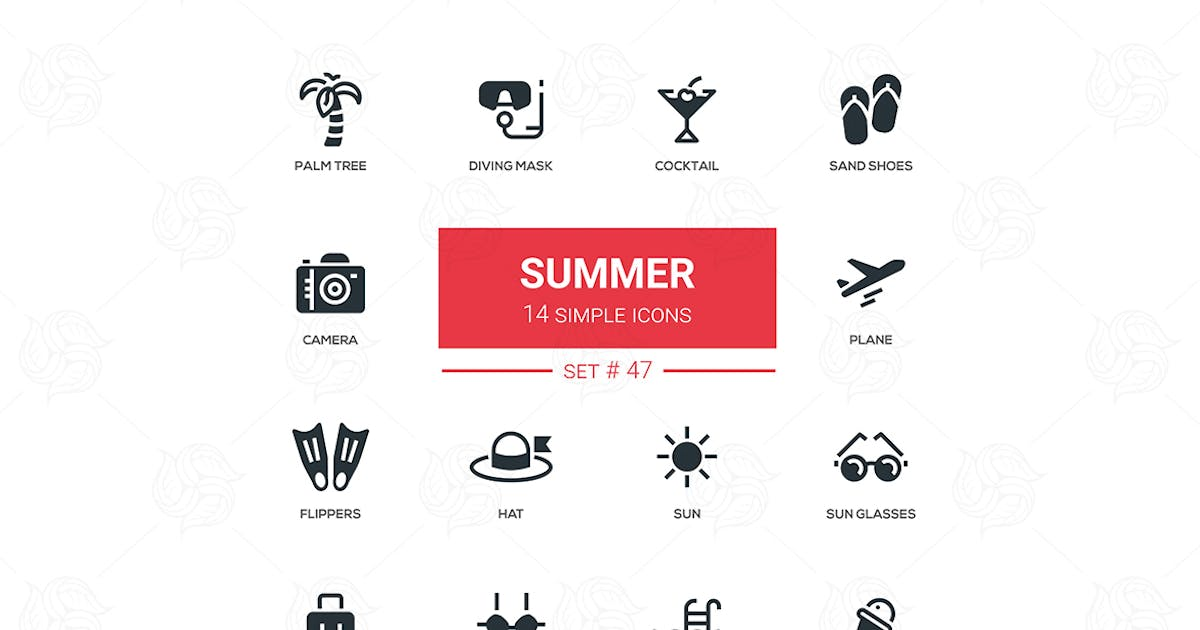 Summer concept - line design icons set by BoykoPictures