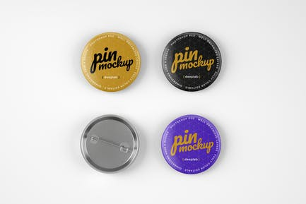 Glossy Pin Button Mockup