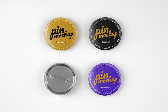 Thumbnail for Glossy Pin Button Mockup