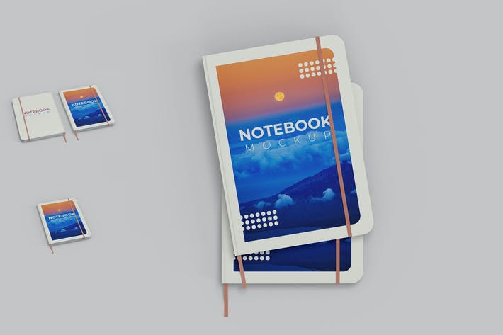 Thumbnail for Hardcover Notebook Mockup