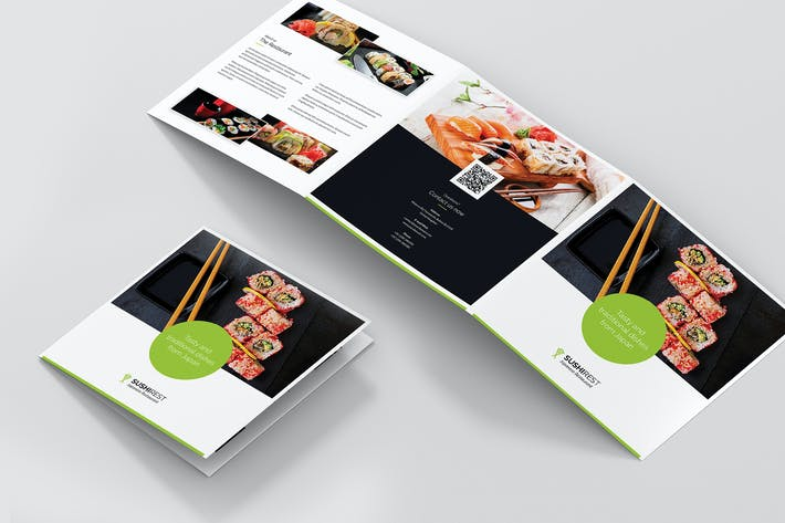 Thumbnail for Brochure – Sushi Restaurant Tri-Fold Square