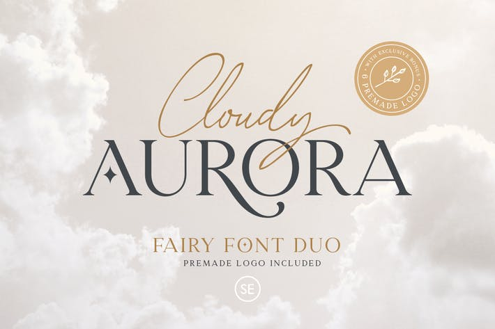 Thumbnail for Cloudy Aurora - Font Duo (+LOGOS)