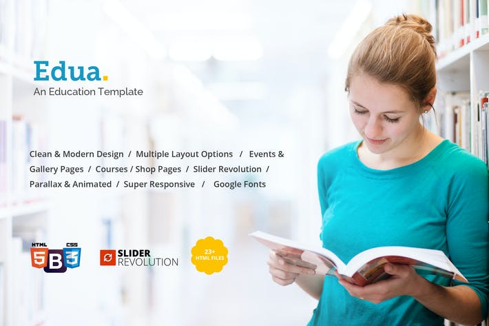 Thumbnail for Edua - Educational HTML5 Template