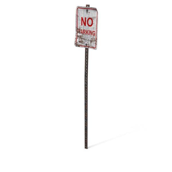 Destroyed No Parking Sign