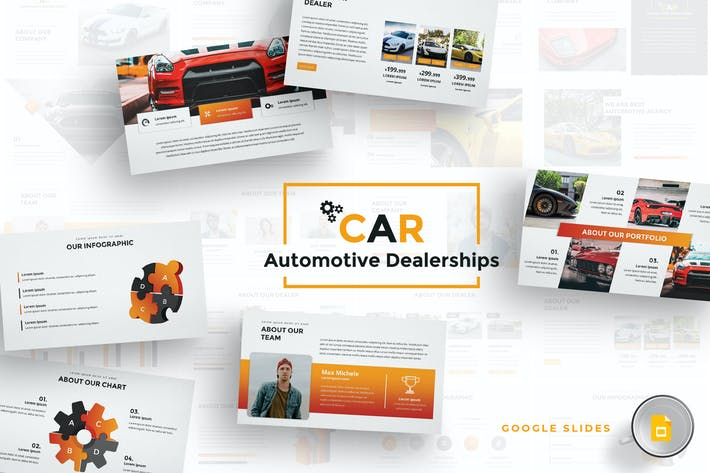 Thumbnail for Car Dealerships Google Slides Template