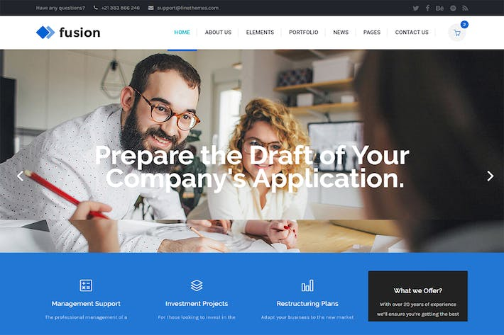 Thumbnail for Fusion - A Modern Business HTML Template