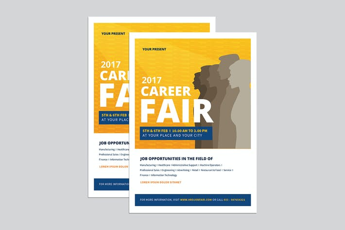 Thumbnail for Clean Job fair event flyer