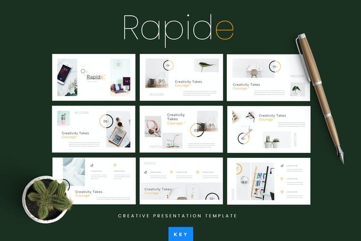 Thumbnail for Rapide - Creative Keynote Presentation Template