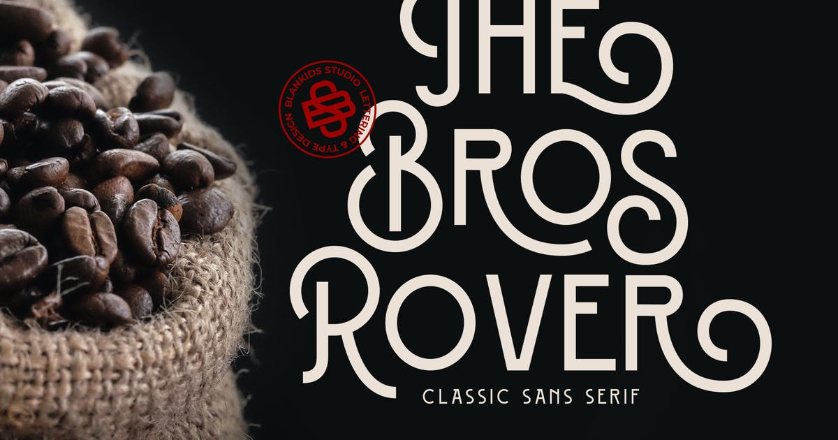Download Bros Rover - Classy Sans Serif by Blankids