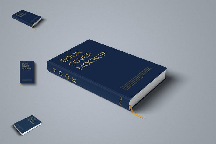 Thumbnail for Hardcover Book Mockup Photoshop Template