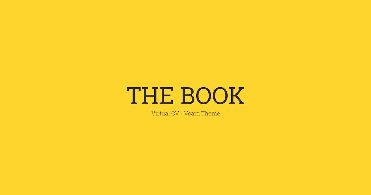 Download The Book : Personal vCard Template by mutationthemes