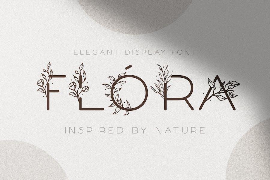 Флора - Нежный цветочный шрифт