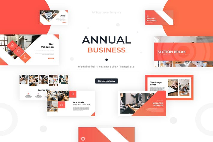 Thumbnail for Ежегодный бизнес - Шаблон Powerpoint