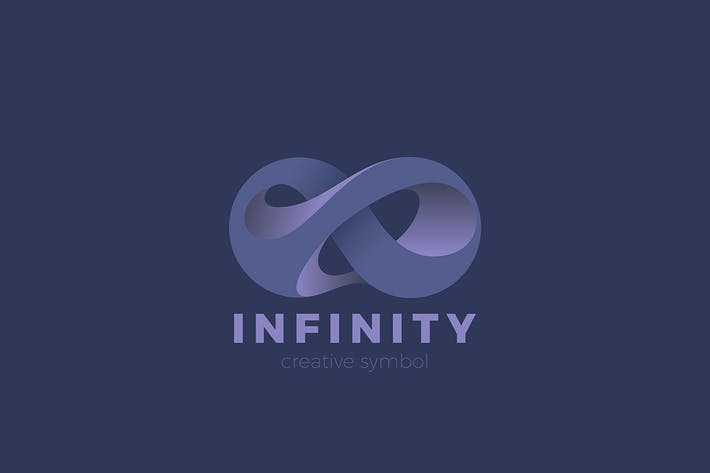 Infinity Logo Abstract Luxury Anamorphic shape